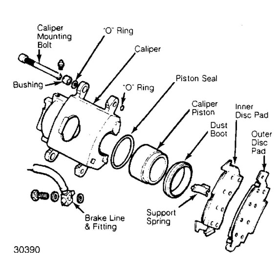 11: caliper assembly (grand wagoneer) courtesy of american motors/jeep corp