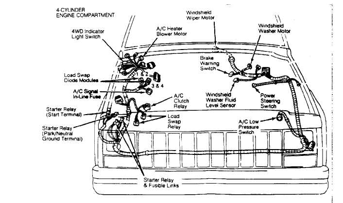 electrical component locator 1984 1991 jeep Dodge Ram 2500 Wiring Diagram Dodge Ram 2500 Wiring Diagram