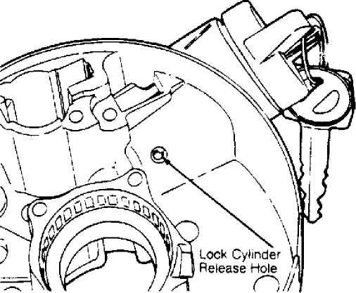 Ignition Switch Lock Cylinder 1984