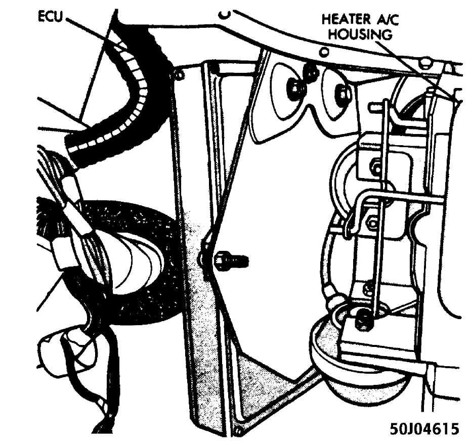 Ignition System 40l W Solid State Ssi 1984 1991 1999 Jeep Cherokee Crankshaft Sensor Wiring Diagram Fig 22 Location Of Ecu Courtesy Chrysler Motors