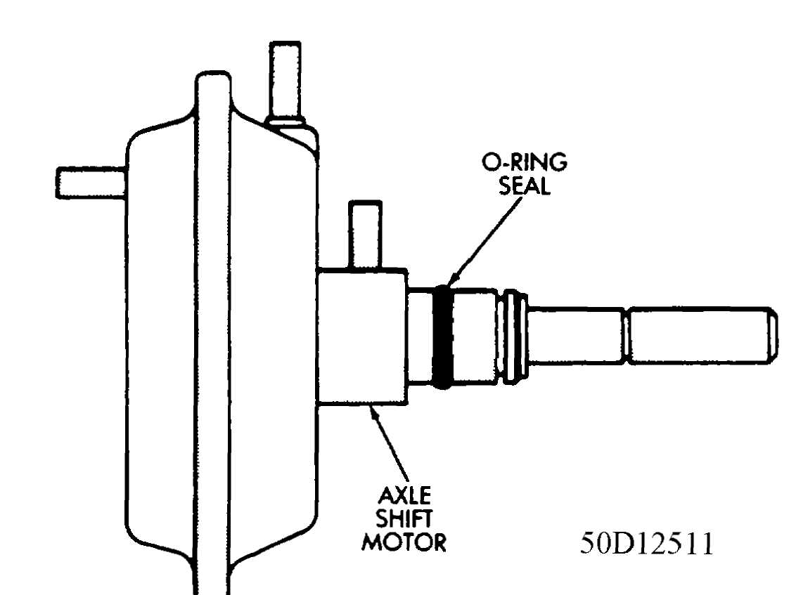 Transfer Case Command Trac Diagnosis 1984 1991 Jeep 1989 Wrangler Vacuum Schematic 4 Axle Shift Motor Shaft O Ring Seal