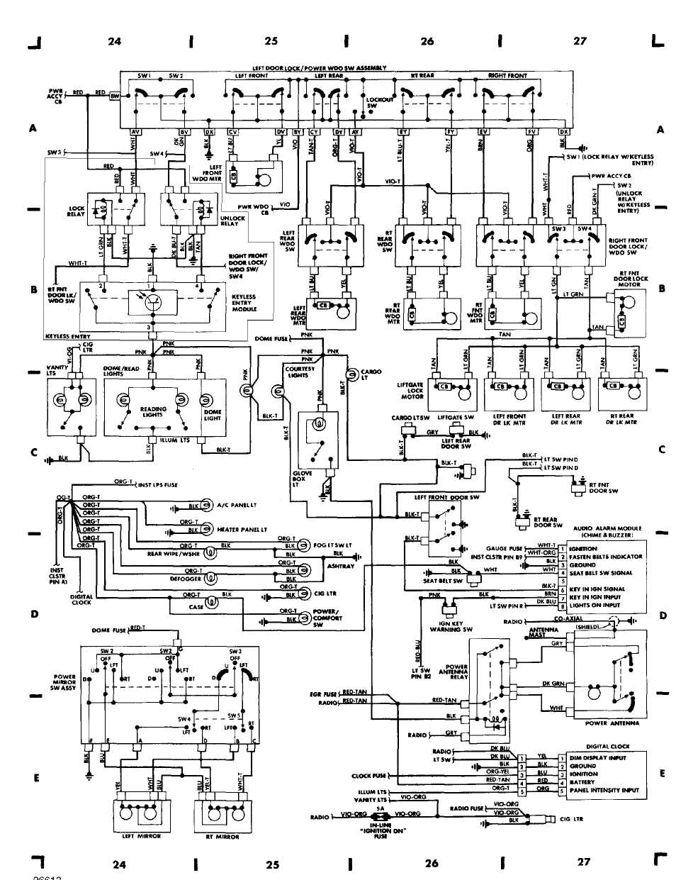 wiring_diagrams_html_61f5e0ad wiring diagrams 1984 1991 jeep cherokee (xj) jeep 1994 Jeep Grand Cherokee Fuse Box Diagram at webbmarketing.co