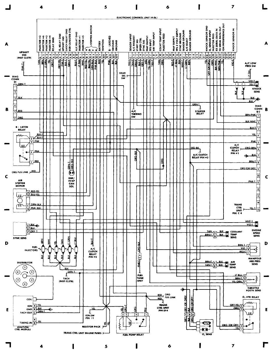 wiring diagrams 1984 1991 jeep cherokee xj jeep rh jeep manual ru 87 Jeep Wrangler Wiring Diagram Jeep Electrical Wiring Schematic