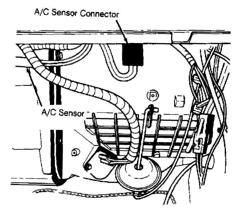Remove Lower Instrument Panel Disconnect Ac Sensor Connector See Fig 1 Carefully And Capillary Tube From Hole In Housing: Jeep 4 Sd Manual Transmission Diagram At Scrins.org