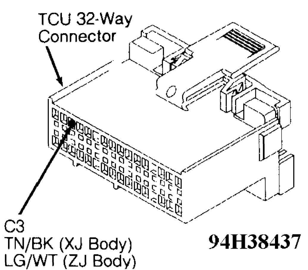 50: Test 5A - Code 702, TCU 32-Way Connector (Cavity 3)