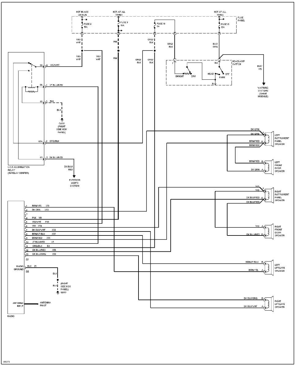 System Wiring Diagrams    1993    Jeep Cherokee  Xj