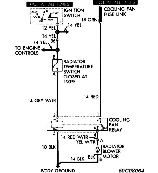 10: wiring diagrams (without a/c)  fan module