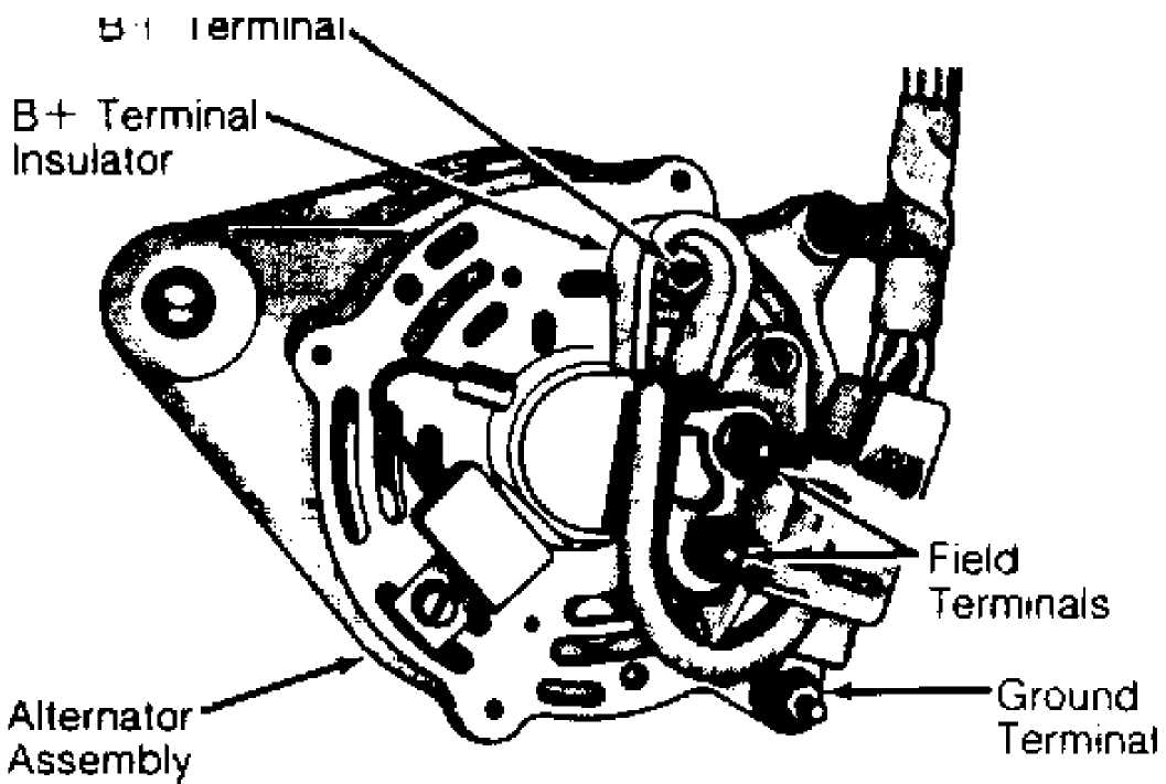 alternator nippondenso 1993 jeep cherokee (xj 2014 Jeep Wrangler Alternator Wiring Diagram