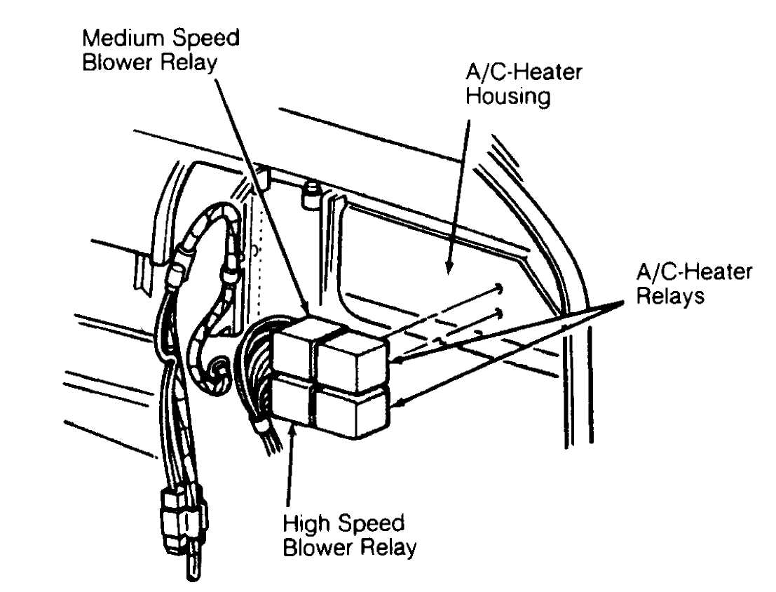 electrical ponent locator 1993 jeep cherokee xj jeep SPAL Fan Relay Wiring Diagram 92e21620