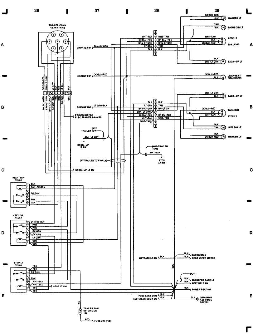 Wiring Diagrams 1993 Jeep Cherokee Xj Seat Diagram 1 36 I 37 38 39