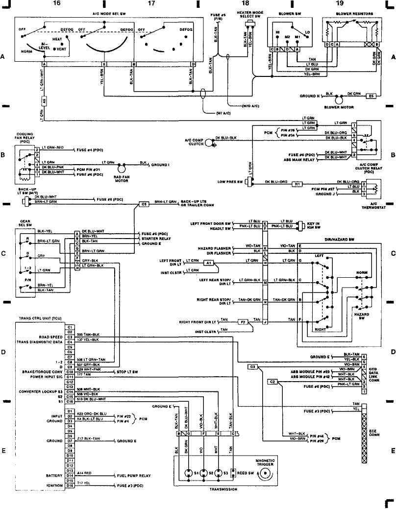 [TVPR_3874]  WIRING DIAGRAMS :: 1993 :: Jeep Cherokee (XJ) :: Jeep Cherokee :: Online Manual  Jeep | 94 Wrangler Automatic Transmission Wiring Diagram |  | Jeep Cherokee