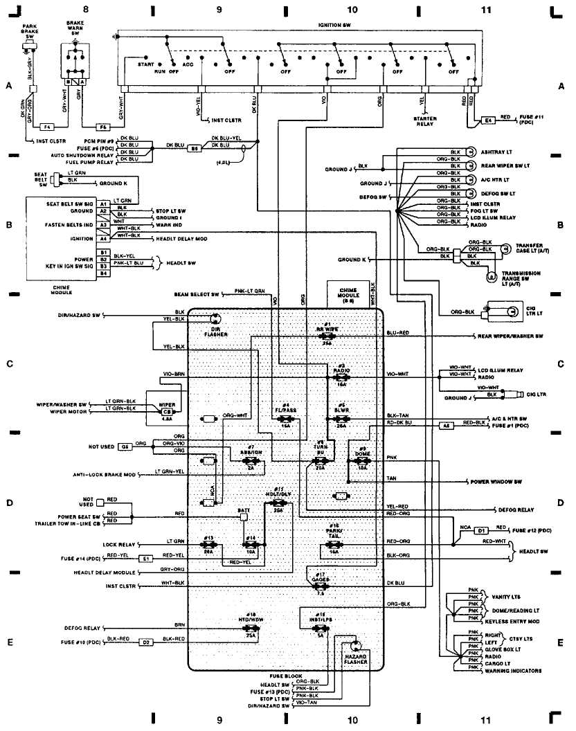 DIAGRAM 2000 Jeep Cherokee Body Control Module Wiring ...
